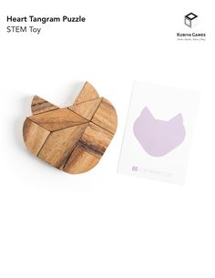 Heart Tangram puzzle set, gifts for her, table game, game for couples