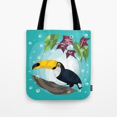 And here we have our Tocaun on tote bag which you can buy here  https://society6.com/product/toucan-and-flower272768_bag ! :-) #HAPIdesign #society6 #totebag #bag #toucan #exotic #cute #instalike #instagood #follow #spiral #product #wow #drawing