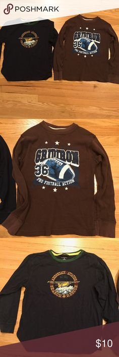 LOT OF TWO Long Sleeve Kids Shirts Size M 10-12 Reasonable offers considered 🛍 Bundle 2 or more items and save! 🎁 Bundle 5 items and I will reimburse the shipping fee 🎉. Two long sleeve Boys shirts. Includes: 1) Lands End Adirondack Aviation Search&Rescue shirt and 2) Children's Place authentic sportswear brown thermal shirt. Both are size medium 10-12. Preloved and in great condition. Lands' End Shirts & Tops Tees - Long Sleeve