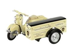This Zundapp Bella with Box Sidecar Diecast Model Motorcycle is Cream and features working stand, steering, wheels. It is made by Schuco and is 1:10 scale (approx. 25cm / 9.8in long). ...