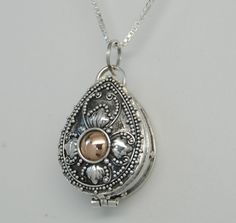 TEAR URN NECKLACE GOLD & SILVER TEAR CREMATION JEWELRY TEARDROP MEMORIAL in Everything Else, Jewelry & Watches | eBay