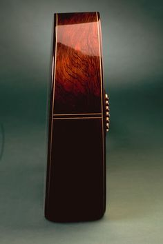 "The ""Manzer Wedge"" guitar shape developed by luthier Linda Manzer."