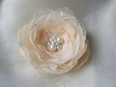 Peach hair flower