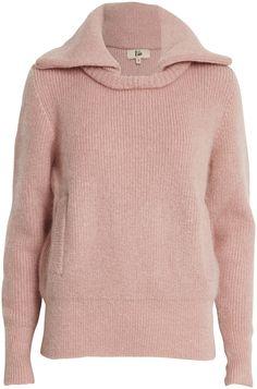 Rika - Coco strik sweater med lommer og krave - YouHeShe