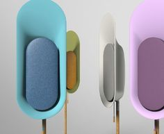 OLi is a stand-type Bluetooth speaker that allows music to fill up your surrounding. OLi is to be stood in different areas of the house instead of filling up spaces on tables or shelves. Id Design, Design Studio, Design Trends, Module Design, Color Plan, Speaker Design, Vintage Design, Consumer Products, Bunt