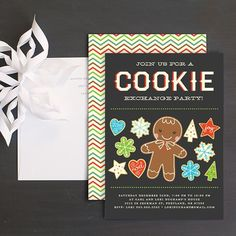 Cookie Exchange Christmas Party Invitation