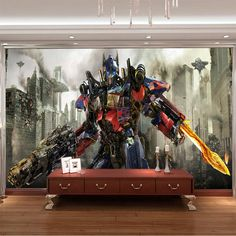 Transformers Photo Wallpaper 3D Optimus Prime Wall Mural Boys Kids Bedroom Custom Movies Wallpaper Livingroom Large wall Art Room Decor Cool Home decoration photography background