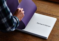 Brand identity and portfolio for UK photographer Richard Moran by Leeds based graphic design studio Journal