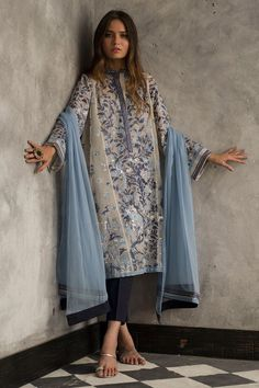 New Arrivals – Womens Collection - Pakistani dresses Pakistani Fashion Casual, Pakistani Dresses Casual, Pakistani Dress Design, Indian Fashion, Casual Dresses, Fashion Dresses, Pakistani Clothing, Indian Attire, Indian Wear