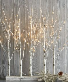 88-Bulb Birch Grove Light-Up Décor White Christmas