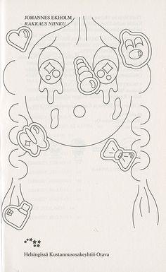 Johannes Ekholm: Rakkaus niinku (Otava, Book design by GRMMXI Line Illustration, Pattern Illustration, Graphic Design Illustration, Graphic Art, Album Design, Book Design, Art Inspo, Art Direction, New Art