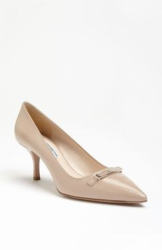 Oh Prada, WHY must you cost so much?!?!?!  Love these!!  Prada Logo Plate Pump | Nordstrom