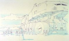 Old concept art for The Empire Strikes Back.
