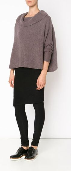 How to style leggings for a dressier look. Love the look of pencil skirt over leggings with a nice sweater.