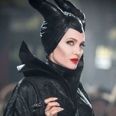 Who's starring: Angelina Jolie is starring as the titular villain, horns and all. Elle Fanning plays Princess Aurora (with Vivienne Jolie-Pitt making her Maleficent Makeup, Maleficent 2014, Maleficent Movie, Maleficent Costume, Malificent, Maleficent Horns, Maleficent Quotes, Maleficent Halloween, Disney Films