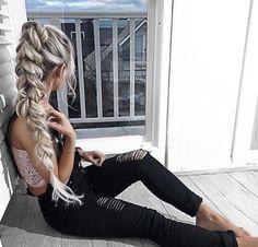 braided high ponytail