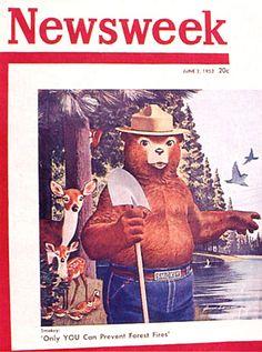 Smokey Bear - Newsweek Cover - June 2, 1952