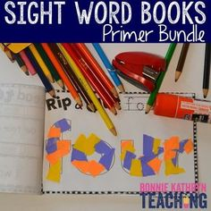 Sight words can be difficult to teach. These interactive sight words books (grades K-1) make learning sight words easy and fun. Each morning students will complete activities in their interactive sight word books. This bundle of books covers the Dolch Pri