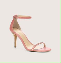 Thin Strap Heels by Loft give that soft and feminine look for summer. Plus, the studs are fabulous! #summer #heels