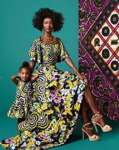 Choose from the best and beautiful matching African ankara styles for mother and daughter. These ankara styles are meant for stunning mother and daughter African Fashion Ankara, African Inspired Fashion, African Print Fashion, Africa Fashion, Ethnic Fashion, Fashion Prints, Ghanaian Fashion, African Prints, African Dresses For Women