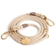 Light Tan Synthetic Rope Dog Leash, Adjustable