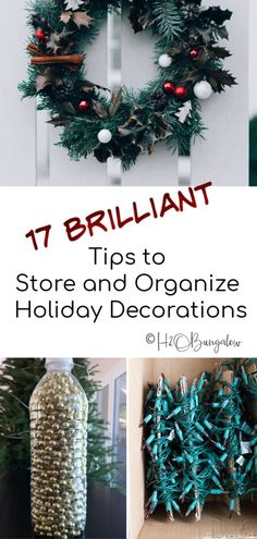 Use these tips to organize and store holiday decorations. My simple guide on how to pack holiday decorations away quickly and in an organized method. Christmas Love, Christmas Wreaths, Handmade Christmas, Christmas Ideas, Christmas Crafts, Christmas Ornament Storage, Holiday Storage, Do It Yourself Organization, Easy Fall Wreaths