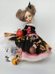 collectible art doll interior doll totally hand made OOAK Art Doll