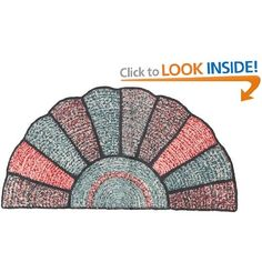 Grandmothers Fan Crochet Rag Rug Pattern eBook: Hollywood Patterns
