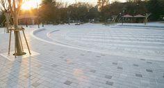 보도블록 시공 현장, 대구 와룡공원, 에코청진, 네오스톤 블록, 보도블럭, 공원