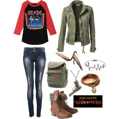 Outfit fit for a Hunter! This would look uber cute on Jo ;)<<AHH I WANT THE SHIRT SO BAD