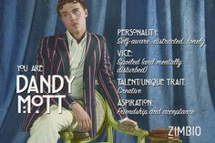 I took Zimbio's 'AHS: Freak Show' quiz and I'm Dandy Mott. Who are you?