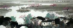 Water Township,70cm x 180cm(27〃 x 70〃),1095508-z