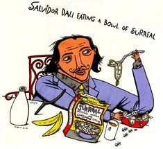 Salvador Dali Eats A Bowl Of Surreal - Justin Gardner - Political Pulse - True/Slant