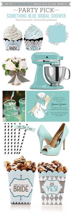 Party Pick: Something Blue Bridal Shower | Polka Dot Design Blog: Ideas, Inspiration & Invitations