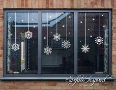 Etsy - Snowflake Christmas Window Decor, Christmas Snowflake Decals  #ad