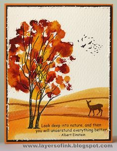 Layers of ink: Distress Stain cards