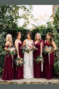 Cute Bridesmaid Dresses Cutebridesmaiddresses Purple Bridesmaiddressespurple Burgundy Burgundybridesmaiddresses