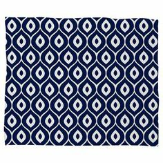 """Dress your sofa or bed in bold style with this cozy fleece throw, showcasing an ogee motif by artist Aimee St Hill. Made in the USA for DENY Designs.   Product: ThrowConstruction Material: 100% Polyester fleeceColor: NavyFeatures:  Custom madeUltra softMade in the USADesigned by Aimee St Hill for DENY Designs Dimensions: Small: 30"""" x 40""""Medium: 60"""" x 50""""Large: 80"""" x 60""""Cleaning and Care: Machine wash and tumble dry"""