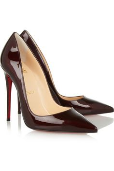#ChristianLouboutin So Kate 120 patent-leather pumps