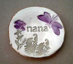 Ceramic Ring Holder Dish  NANA  Mothers day