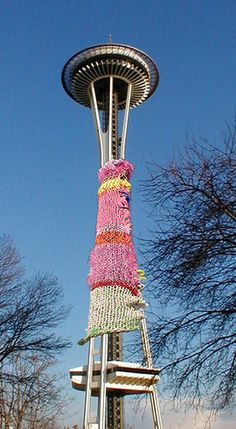 Many years ago, I went to Seattle and a bass player showed me the Space Needle.  Now it has a cozy.