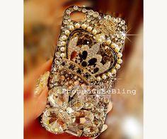 iPhone 4 Case, iPhone 4s Case, iPhone 5 Case, iPhone 5 Bling Case, Bling iPhone 4 case, Unique iPhone 4 case, Crown iphone 5 case, iphone 4 by iPhone5CaseBling, $21.98