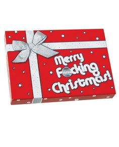 erry F*cking Christmas! This colorful candy box with the foul-mouthed but light-hearted holiday greeting is filled with 3.6 oz. of Tutti-Frutti flavored candy. Box measures 6 x 4.