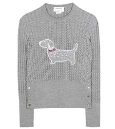 THOM BROWNE Cable-knit sweater. #thombrowne #cloth #sweater