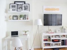 Live in a studio apartment and need to create a room divider? Need some studio apartment ideas? Learn how to here! #roomdivider #roomdividerideas #studioapartmentideas #tinystudioapartmentideas #studioapartmentdecorating #decoratingonabudget #smallapartmentideas Nyc Studio Apartments, Studio Apartment Living, Studio Apartment Layout, Small Apartment Interior, Studio Apartment Decorating, Studio Living, Apartment Ideas, Apartment Chic, Modern Apartments