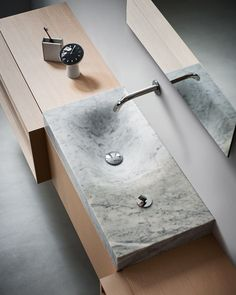 815 Washbasin by Benedini Associati for Agape Design The asymmetrical form of Agape's Cararra marble sink is modeled after the effect of water eroding stone. Photo 5 of 8 in Nature-Influenced Bathroom Fixtures by Kelsey Keith Design Your Own Bathroom, Bath Design, Bad Inspiration, Bathroom Inspiration, Bathroom Ideas, Bathroom Toilets, Bathroom Fixtures, Plumbing Fixtures, Washroom