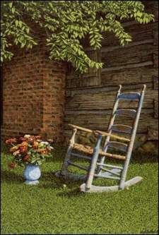 """Jeff and I do not have this print, either, and think it would look great in our future home...Bob Timberlake: """"Blue Rocker"""""""