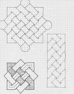 Discover recipes, home ideas, style inspiration and other ideas to try. Blackwork Patterns, Celtic Patterns, Celtic Designs, Zentangle Patterns, Quilt Patterns, Graph Paper Drawings, Graph Paper Art, Zentangle Drawings, Pattern Drawing