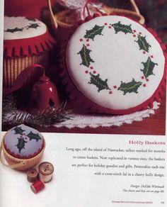 Cross-stitch Christmas Holly Biscornu Set, part 1... Gallery.ru / Foto # 71-29 - 633-10-66