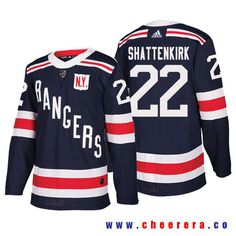 Men s New York Rangers  22 Kevin Shattenkirk Navy Authentic 2018 Winter  Classic Jersey Nhl Hockey c031f0bc5